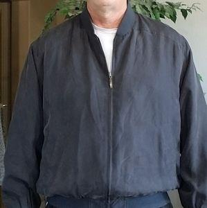 Van Graaf silk bomber jacket, black, sz 54